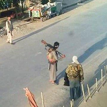 Image: Taliban fighters in Kunduz, Afghanistan, on Sept. 29