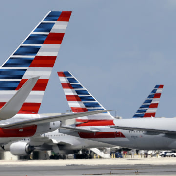 Image: American Airlines aircraft pictured in Miami in this file photo.