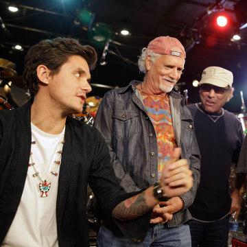 Image: John Mayer, Bill Kreutzmann, Mickey Hart, Bob Weir