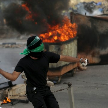 Image: Palestinian protester