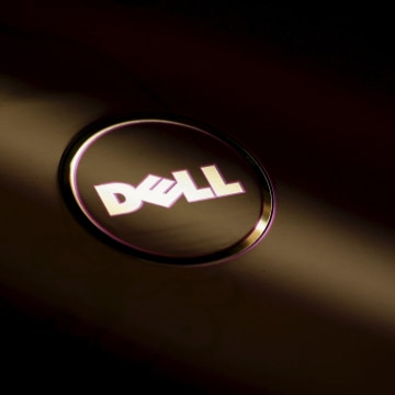 Image: File photo of the Dell company logo on the cover of a laptop at a Dell outlet in Hong Kong