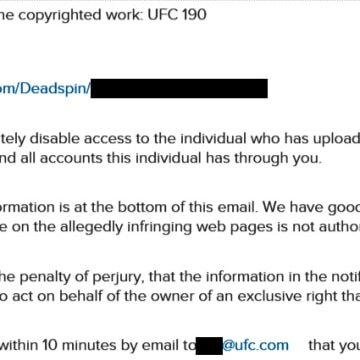 IMAGE: Ultimate Fighting Championship complaint against Deadspin