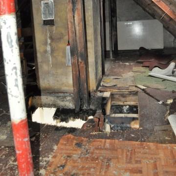 Image: Burnt attic in Altena, Germany