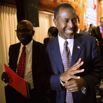 Image: *** BESTPIX *** Ben Carson Discusses His New Book At National Press Club Event In Washington