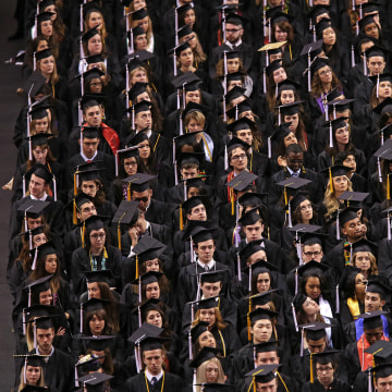 Image: Northeastern University holds its commencement in 2015