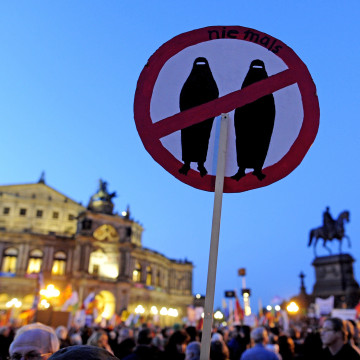 Image: PEGIDA supporters in Dresden, Germany, on Oct. 12