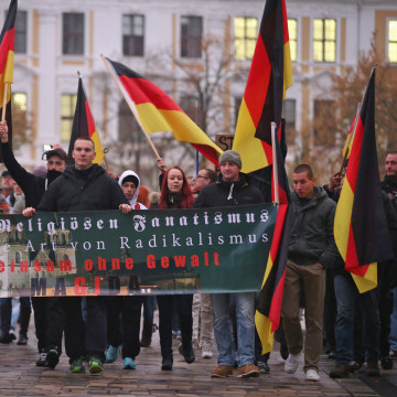 Image: PEGIDA supporters rally in Magdeburg, Germany