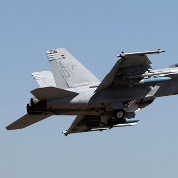 Image: U. S. Air Force F-18 Super Hornet fighter aircraft