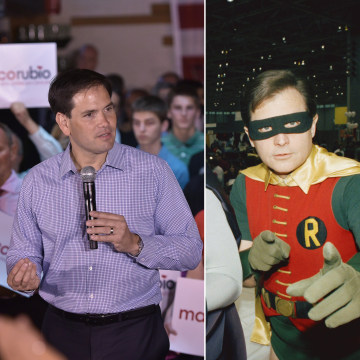 Image: Marco Rubio and Burt Ward as Robin