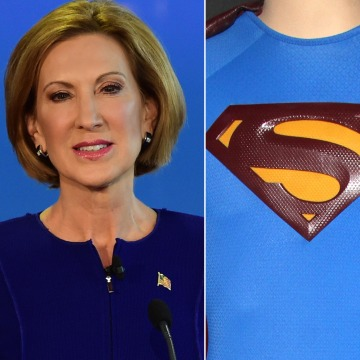 Image: Carly Fiorina and the Superman logo