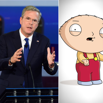 Image: Jeb Bush and Family Guy's Stewie Griffin