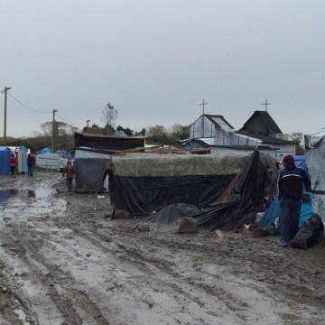 "Image: Disease is rife in the ""Jungle"" — a camp for refugees and migrants in Calais, France."