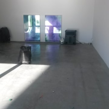 Image: The installation after a visit by cleaners