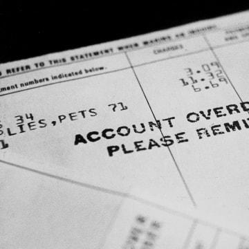 Image: overdue bills