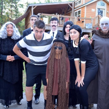 Photo: Family dressed up for Halloween at Lake Rudolph Campground and RV Resort.