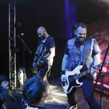 Image: Vlad Telea and Alex Pascu of the Romanian metal band 'Goodbye to Gravity'
