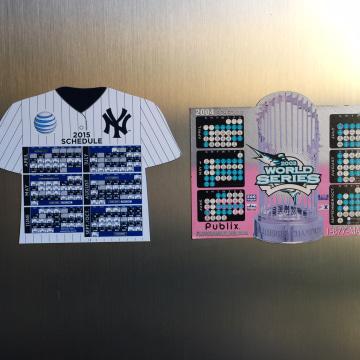 Image: Yankee and Marlins season calendars