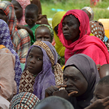 Image: Women who were rescued after being held captive by Boko Haram