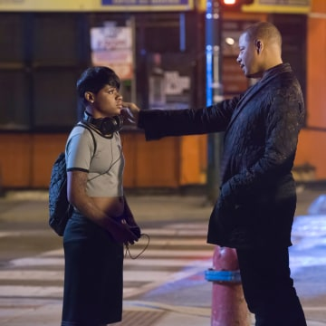 Image: Guest star Bre-Z (L) and Terrence Howard