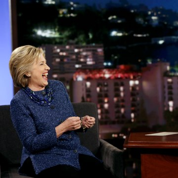 "Image: Clinton appearing on ""Jimmy Kimmel Live!"""