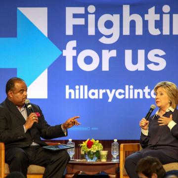 Image: Hillary Clinton, Roland Martin