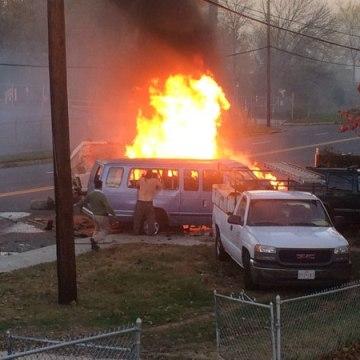 IMAGE: Van crash in Hyattsville, Maryland