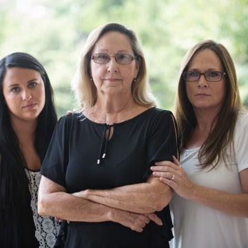 Image: Kevin Ott's family. From left: Morgan Hale, 21, Betty Chism, 71, and Angie Butler, 51.