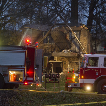 Image: Scene of Akron, Ohio, plane crash