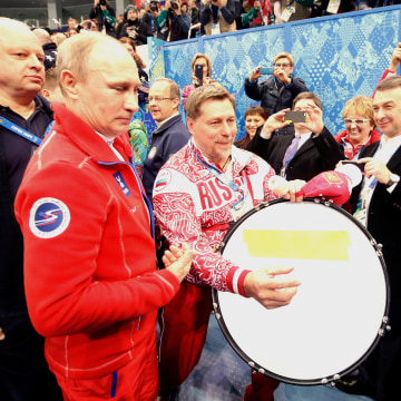 Image: Vladimir Putin during the Sochi Olympics