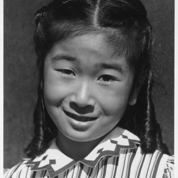 Image: Joyce Yuki Nakamura poses for her portrait at the Manzanar internment camp
