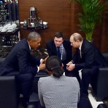 Image: Vladimir Putin,  Barack Obama