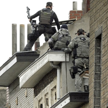 Image: Special forces in Molenbeek area of Brussels
