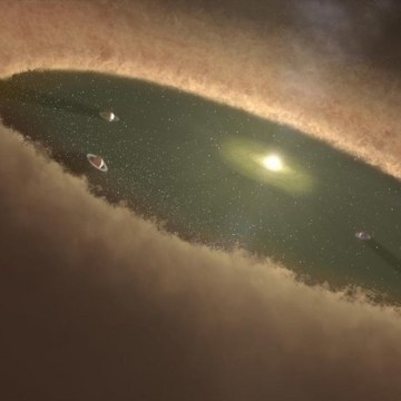 Image: Artist's illustration of planets forming in a circumstellar disk