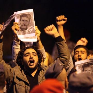 Protest in Lebanon against terror attacks