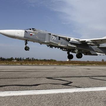 Image: A Sukhoi Su-24 fighter jet