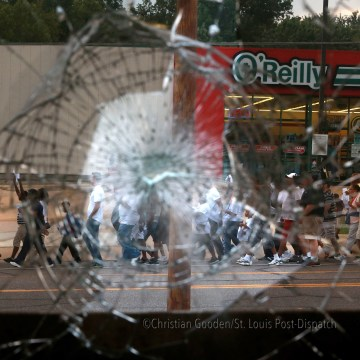 Peaceful marches resume in Ferguson