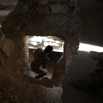 Image: Former ISIS tunnel in Sinjar, Iraq