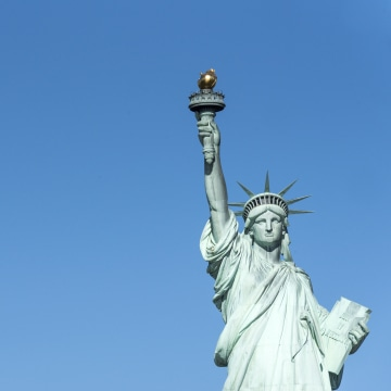 Statue of Liberty in New York City a major tourist landmark