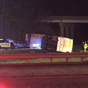 IMAGE: Overturned bus in Virginia