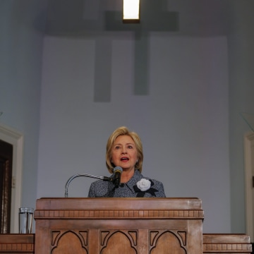 Image: Hillary Clinton speaks at 60th Anniversary of the Montgomery Bus Boycott in Montgomery, Alabama, USA