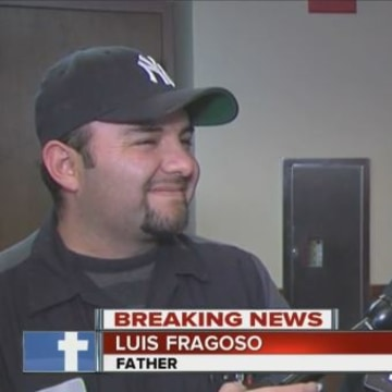 Image: The girls' father Luis Fragoso, and aunt Juana Flores talk to KSHB.