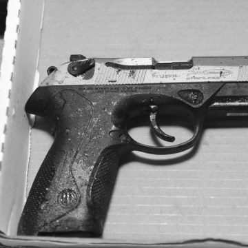 Image:One of the weapons seized by police after the chase