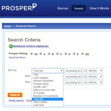 Prosper screenshot