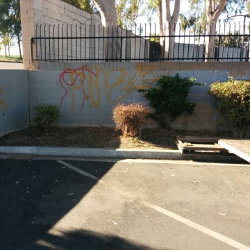 Reported graffiti at a Sikh gurdwara in Buena Park, Calif.