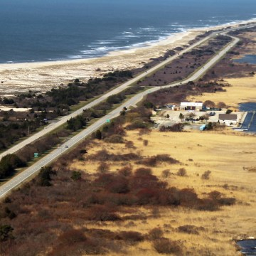 Image: An aerial view of the area near Gilgo Beach