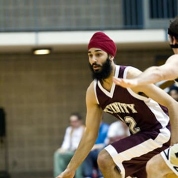Darsh Preet Singh, who played for Trinity University, was the first turbaned Sikh American to play NCAA basketball. By his senior year, he was co-captain of the team.