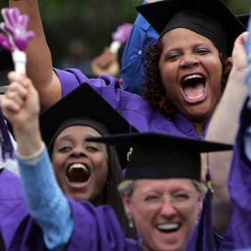 Students Attend Graduation Ceremonies At New York University