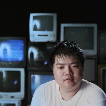 """A still of Arthur Chu speaking during an interview from """"Who Is Arthur Chu?"""""""