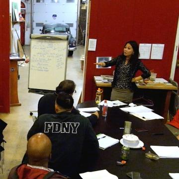 Image: firefighters learn Mandarin