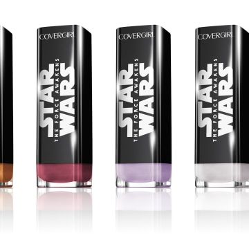 "Photo: CoverGirl's ""Star Wars"" beauty products."
